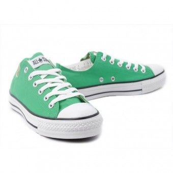 Converse Shoes Green Chuck Taylor All Star Classic Low