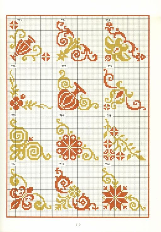 urns fleur de lis cross stitch point de croix punto cruz chart grille pattern