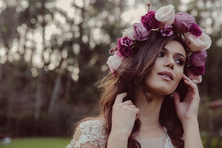Buquês de flores: rosas para coroa de noivas