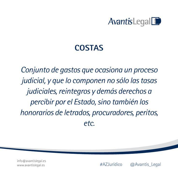 """Este miércoles toca explicar el término jurídico """"Costas"""" en nuestro #AzJurídico de la semana"""