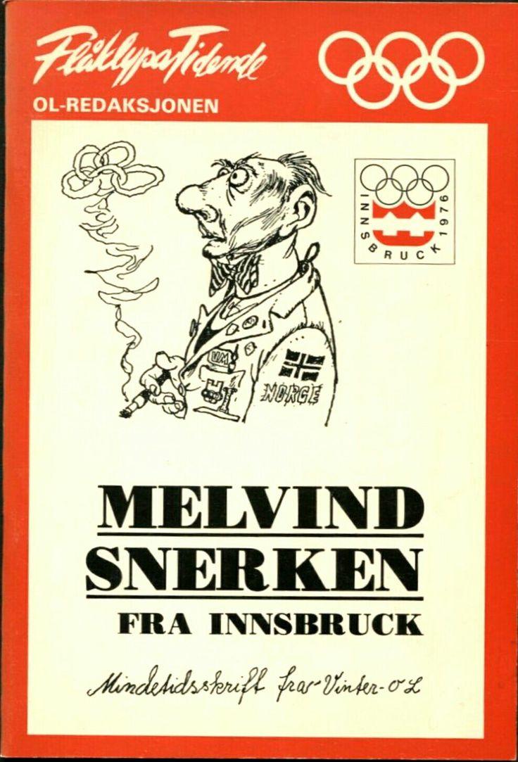 Kjell Aukrust. Flåklypa Tidende. Melvin Snerken OL 1976. Utg Helge Erichsens forlag