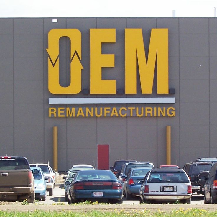OEM Remanufacturing in Edmonton, Alberta; 8' high custom built letters!