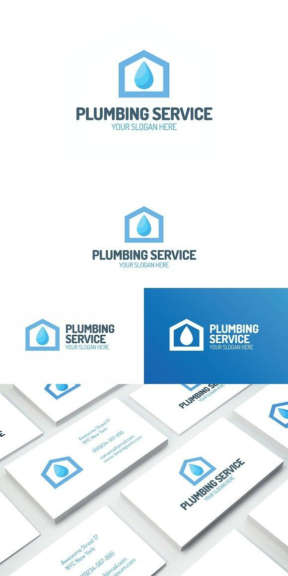 Plumbing service logo. Logo Templates