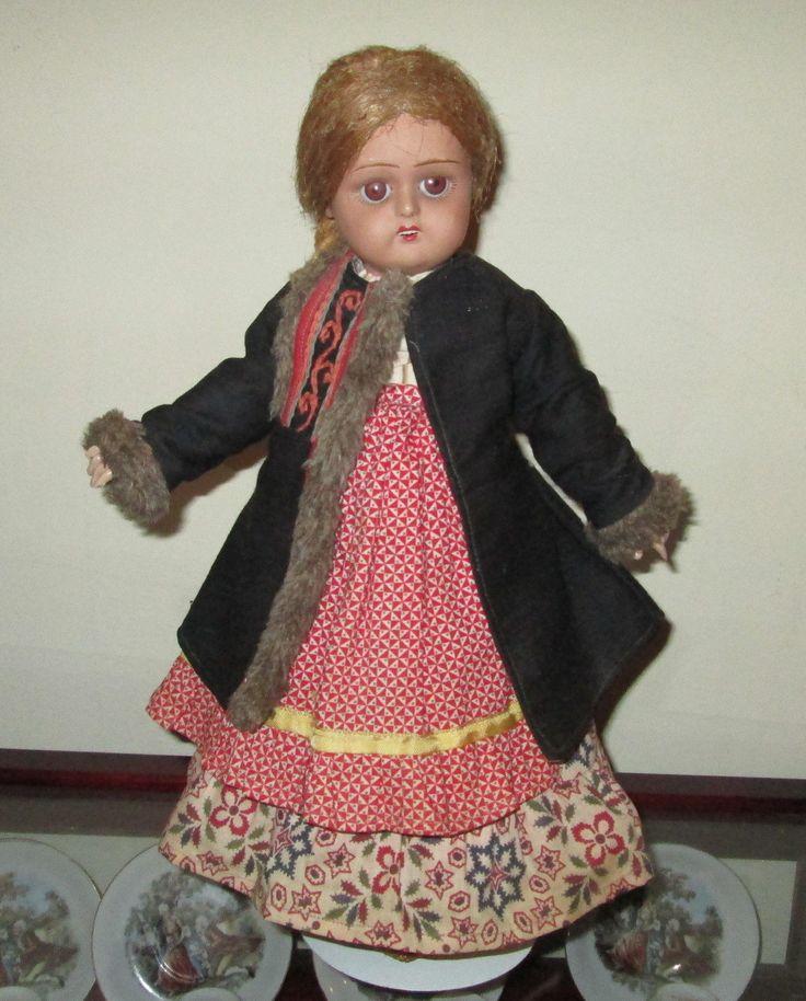 Antique German Painted Bisque Doll | eBay