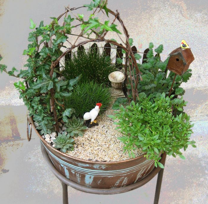 This is a cute gift idea :) This website has some really neat miniture garden ideas :)