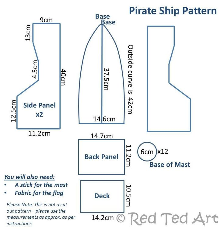 pirate ship sails template - how to make a pirate boat red ted art 39 s blog