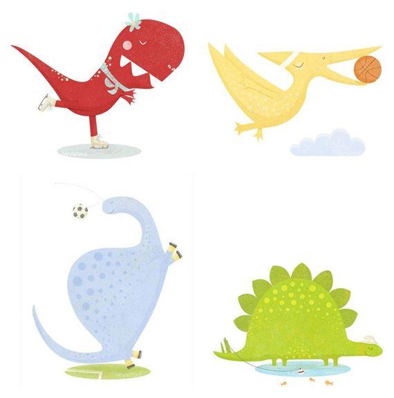Ilustraciones de dinosaurio