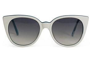 Alain Mikli White & Teal Sunglasses
