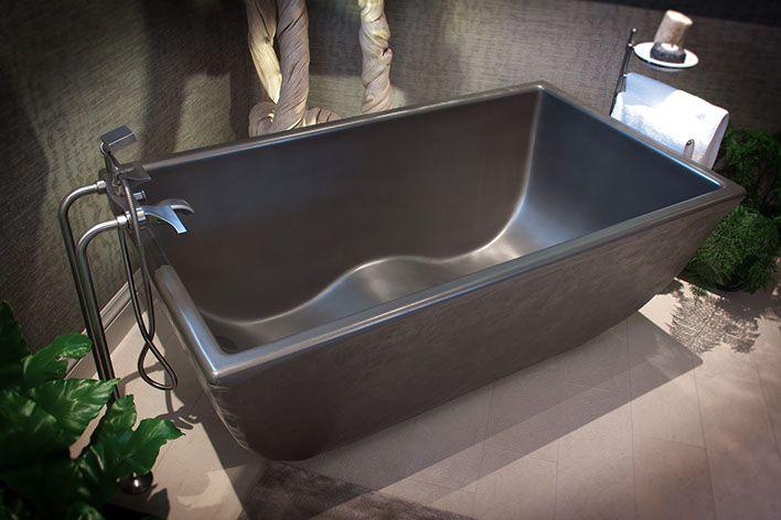 Pre Cast Concrete Bath Tubs Soaking Ofuro Double Wave Tub See Photos