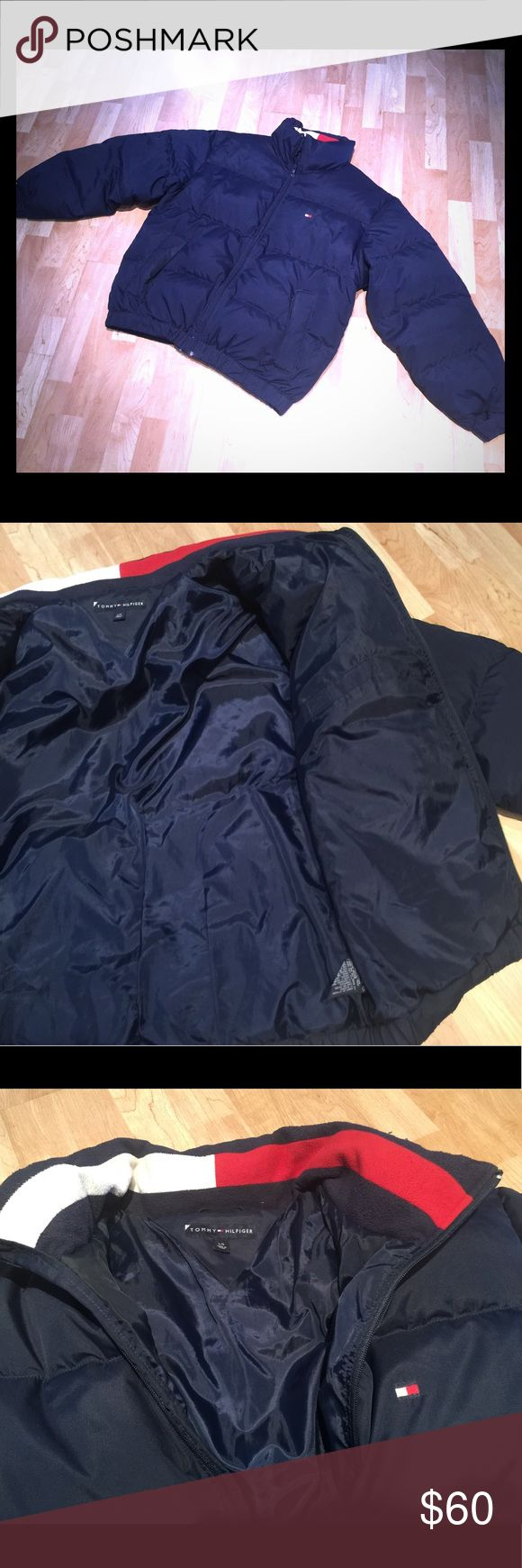 Tommy Hilfiger Men's large down jacket Tommy Hilfiger men's large down jacket. In excellent condition. Fromfrom a smoke, free animal home. Bundle and save. Tommy Hilfiger Jackets & Coats Puffers