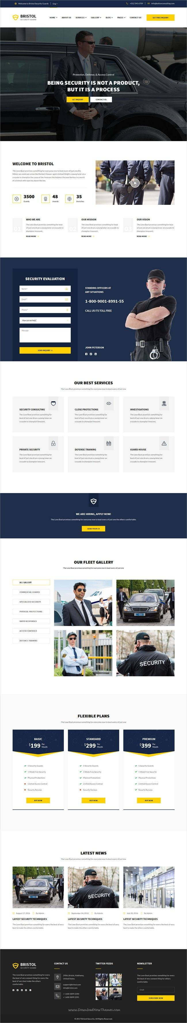Bristol is a wonderful 3in1 responsive HTML #bootstrap template for #bodyguards, security #companies, private investigators, alarm and protection services agencies, guardians and security systems offices websites download now➩  https://themeforest.net/item/bristol-security-services-html-template/19299491?ref=Datasata