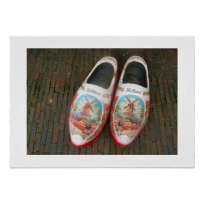 Dutch Photograph Worn Wooden Shoes Poster - photographer gifts business diy cyo personalize unique