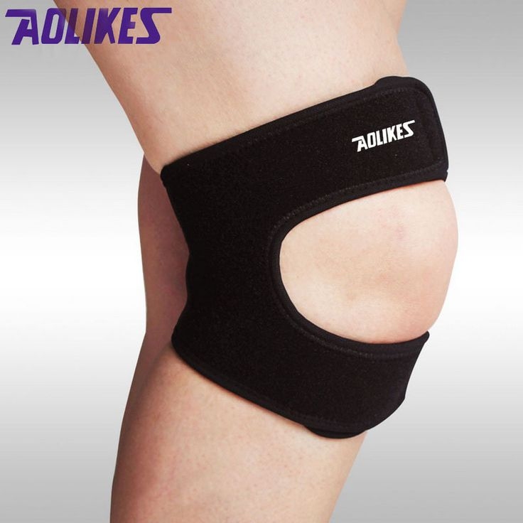AOLIKES 1 Pcs Elastic Patella Support Adjustable Knee Sliders Band Protector Volleyball Kneecap Sports Safety rodilla pads