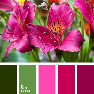 """""""пыльный"""" розовый, весенняя цветовая палитра, зеленый, лиловый цвет, насыщенный розовый, оливковый, оттенки зеленого, подбор цвета, розовый, тёмно-зелёный, фиолетовый, яркий розовый."""