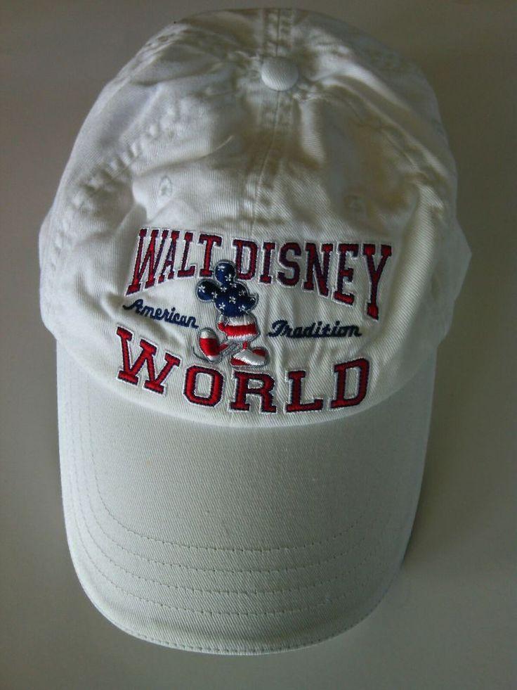 Walt Disney World Baseball Cap American Tradition 1971 Hat White Size Adjustable