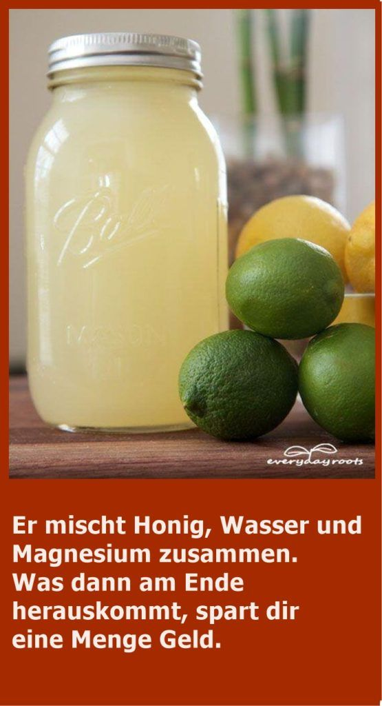 Er mischt Honig, Wasser und Magnesium zusammen. Was kommt dann am Ende raus …   – Gesundheit