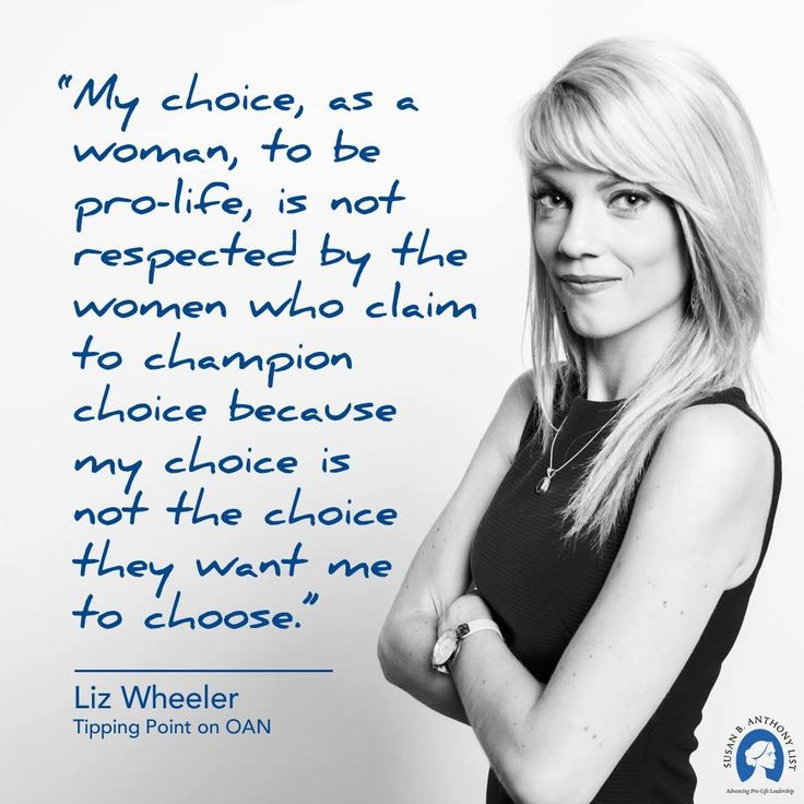 Liz Wheeler #prolife #women quote  //  Susan B. Anthony List