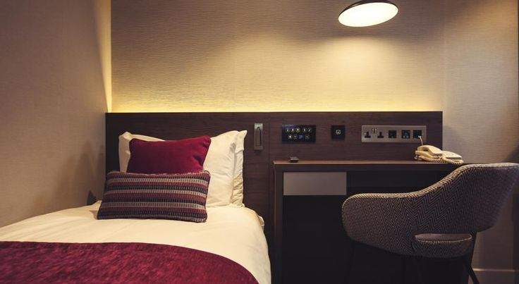 Lighting control system installed @bestwesterngb Delmere Hotel, London. Controlling lights and air conditioning.