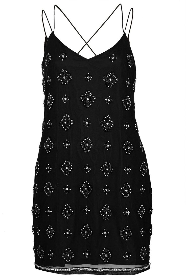 Beaded Strappy Slip Dress - Dresses - Clothing - Topshop USA