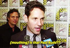Mark Ruffalo Spots Paul Rudd At Comic Con, Totally Freaks out