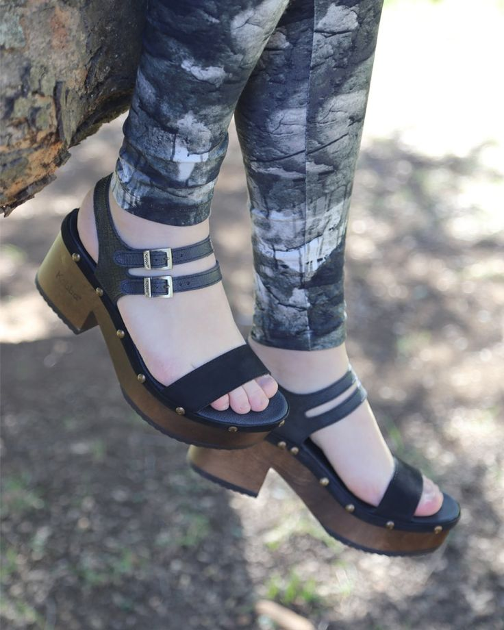 Bua Bonita - Lezard Oil Negro Kebba Shoes