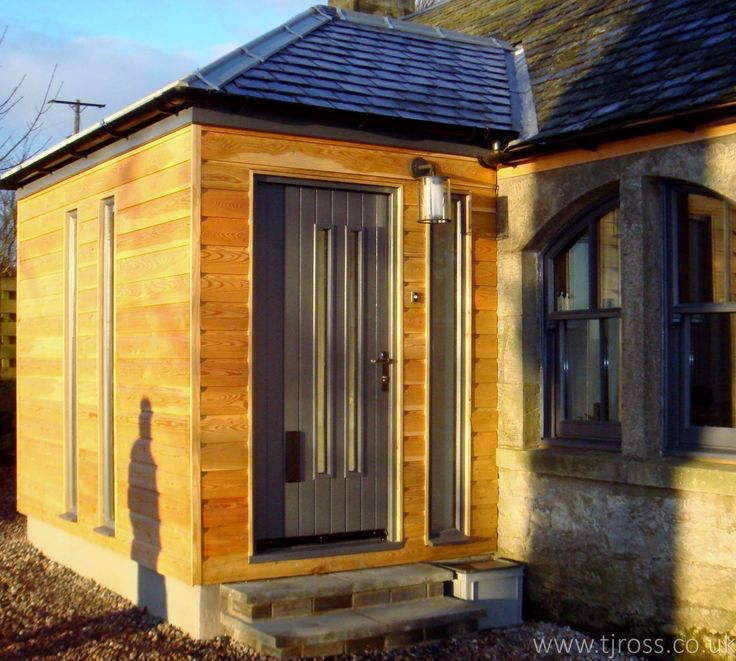 Porch Addition to a single storey cottage