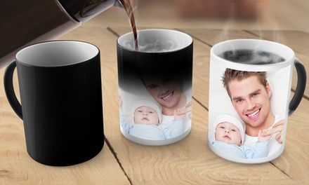 Use your own photograph or choose one from an image library to decorate a mug
