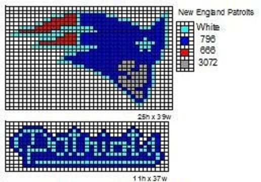 New England Patriots Crochet Afghan Pattern Free : Patriots Misc, perler beads, counted cross Pinterest ...
