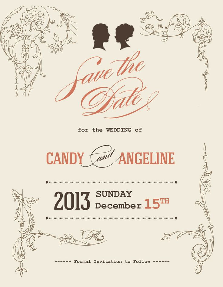 Save the Date : Candy & Angeline 2013