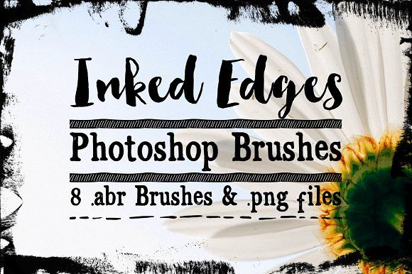 Inked Edge Photoshop Brushes by Clikchic Designs on @creativemarket