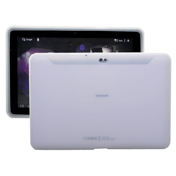 Soft Shell Läpikuultava (Valkoinen) Samsung Galaxy Tab 10.1 P7500 Silikonisuojus
