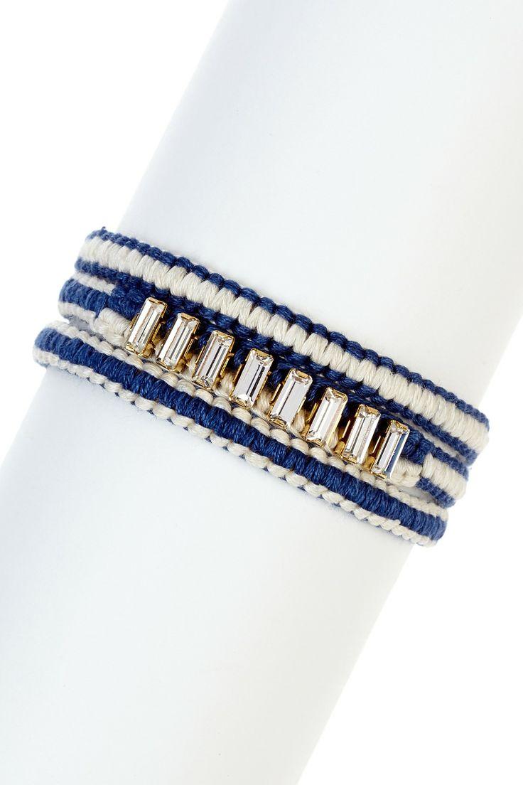 Baguette Rhinestone Wrap Bracelet