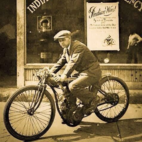 Vintage Picture of an Indian Motorcycle