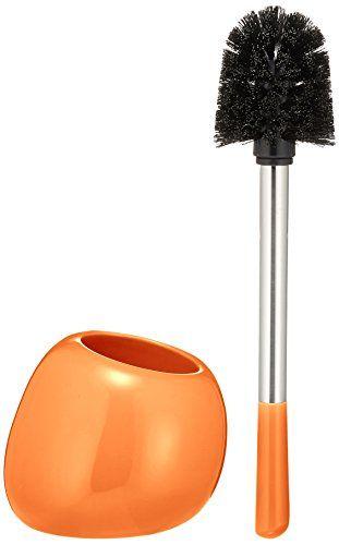 "From 14.99 Wenko ""polaris"" Toilet Brush And Holder Orange"