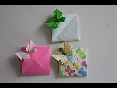How to mak an Origami Card :Butterlfy Envelope - YouTube
