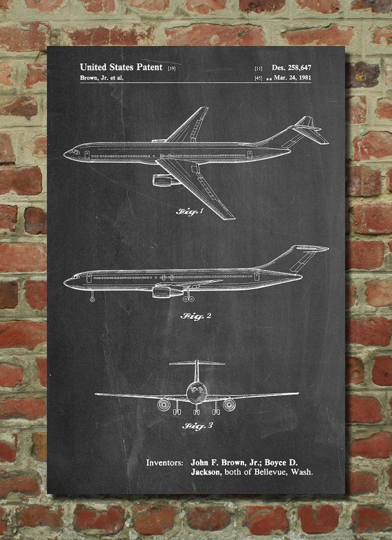 Boeing Concept 777 Aircraft Patent Poster, Aviation Decor, Pilot Gift, Airplane Nursery