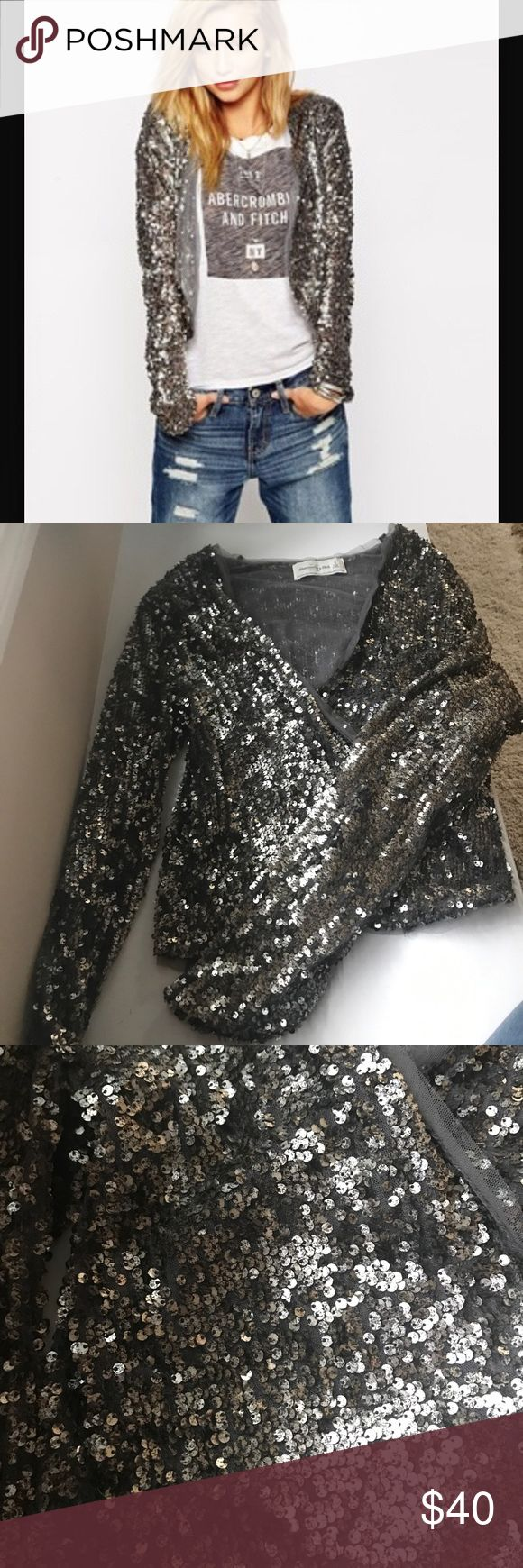 Abercrombie and Fitch sequin blazer/jacket Worn once for a couple of hours! Excellent condition, can be dressed down! (I wore with jeans and a T-shirt during a day out) Abercrombie & Fitch Jackets & Coats Blazers