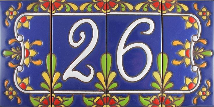 House Numbers:Cobalt Talavera