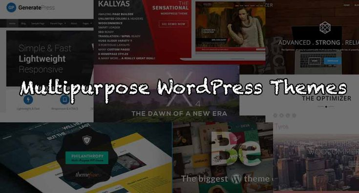 Here are some of the best multipurpose WordPress themes that can produce any website, these pre-built themes gives your site an expert look    #wordpress #multipurpose #themes #free #paid #bestof