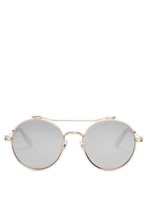2e6c127b9b067 Givenchy Round-frame metal sunglasses   oculos de sol   Pinterest   Givenchy,  Luxury and Designers