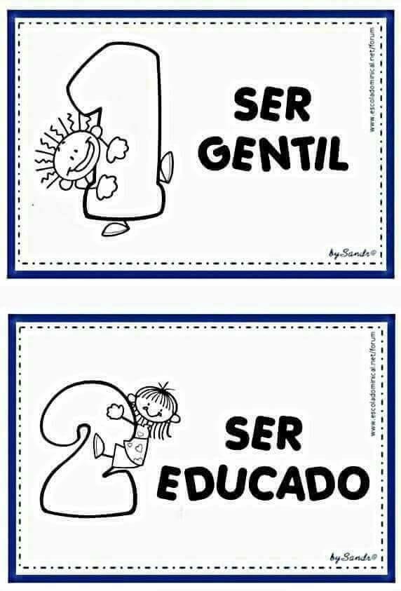 Regrinhas E Combinados Para Imprimir Educacao Educacao Infantil