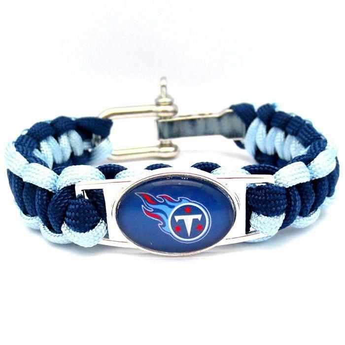 NFL Tennessee Titans Football Team Paracord Bracelet