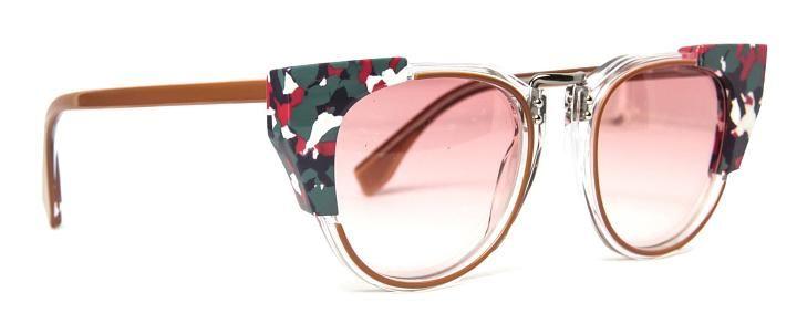 6bd20b476cae Fendi Fendi FF 0074 S RCIN8 Crystal Marbled Red Women s Cat Eye Sunglasses