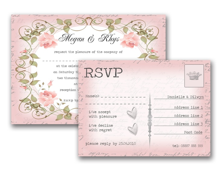 10 images about wedding invitations on pinterest rockabilly bespoke and pastel for Rsvp wedding templates