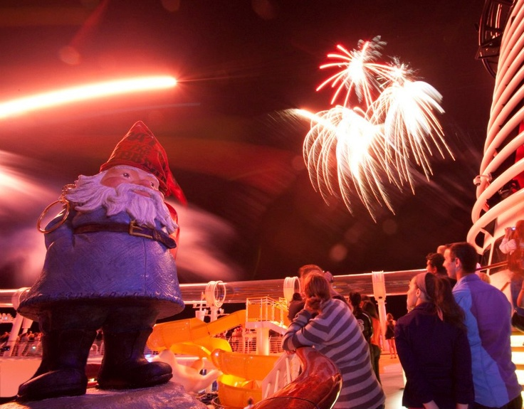 Piercings and pyrotechnics aboard the Disney Fantasy Inaugural cruise to Castaway Cay in the Bahamas | #travelocity #roaminggnome #disney #cruise #travel
