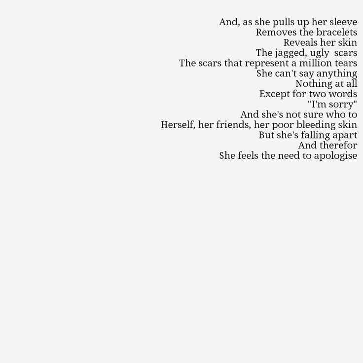 Self-Harm+Cutting+Quotes | Self Harm Quotes Pictures For self harm poems.