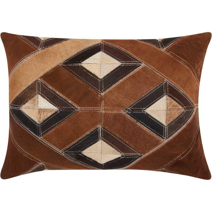 Mina Victory Dallas- Southwestern Four Diamonds Brown Throw Pillow