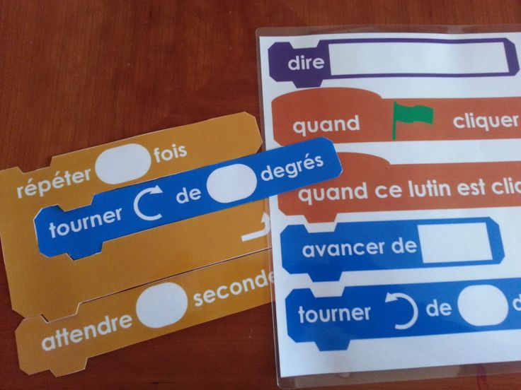 Coding in French - Free Printable Coding Blocks  #wsdcodes #winnipegsd #winnipegsdltl #winnipegsditll