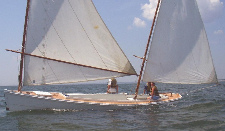 One man New Haven Sharpie, a sailing workboat for oyster ...