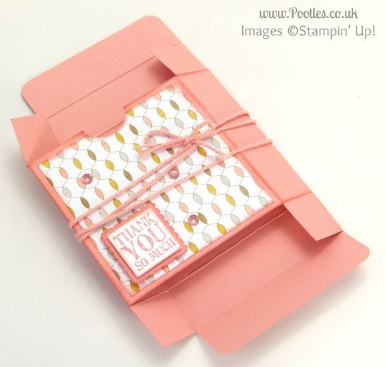 Fold Flat Box Tutorial for 3x3 Cards & Envelopes flattened (with video tutorial) More